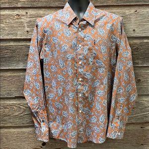 Cinch Modern Fit Basic Plain Weave Paisley Shirt